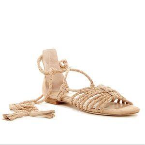 • JOIE • Falk Ankle Tie Suede Sandals Size 37